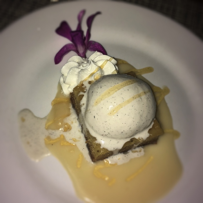 Malva Pudding with Amarula Liquor Ice Cream
